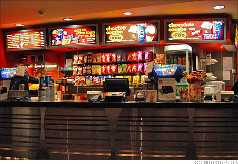 movie theater cinema food snack bar About